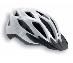 CASCO MET CROSSOVER BLANCO MATE